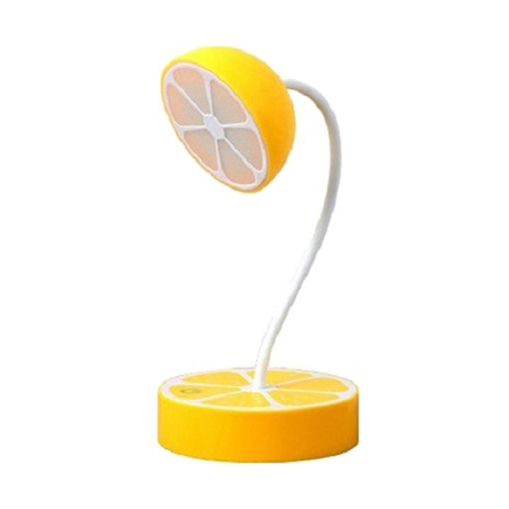 Đèn LED để bàn cắm sạc điện cổng USB hình Hoa Quả