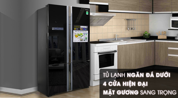 Thiết kế - Tủ lạnh Hitachi Inverter 640 lít WB800PGV5