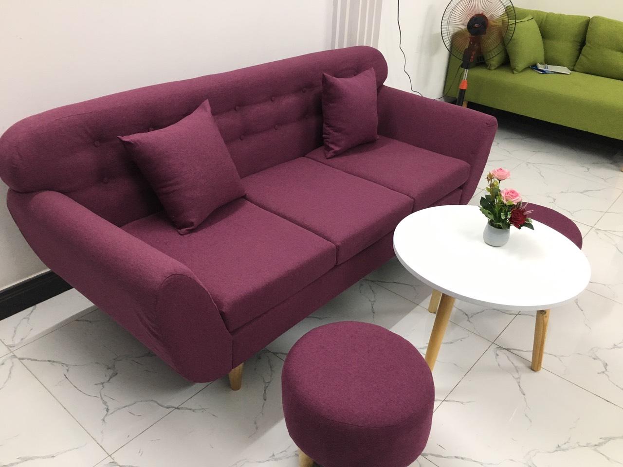 Bộ sofa băng tím Linco sofa bed phòng khách SFB1