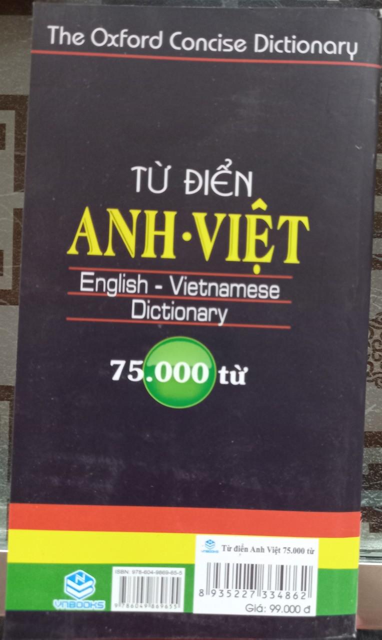 Từ điển anh - việt - 75.000 từ