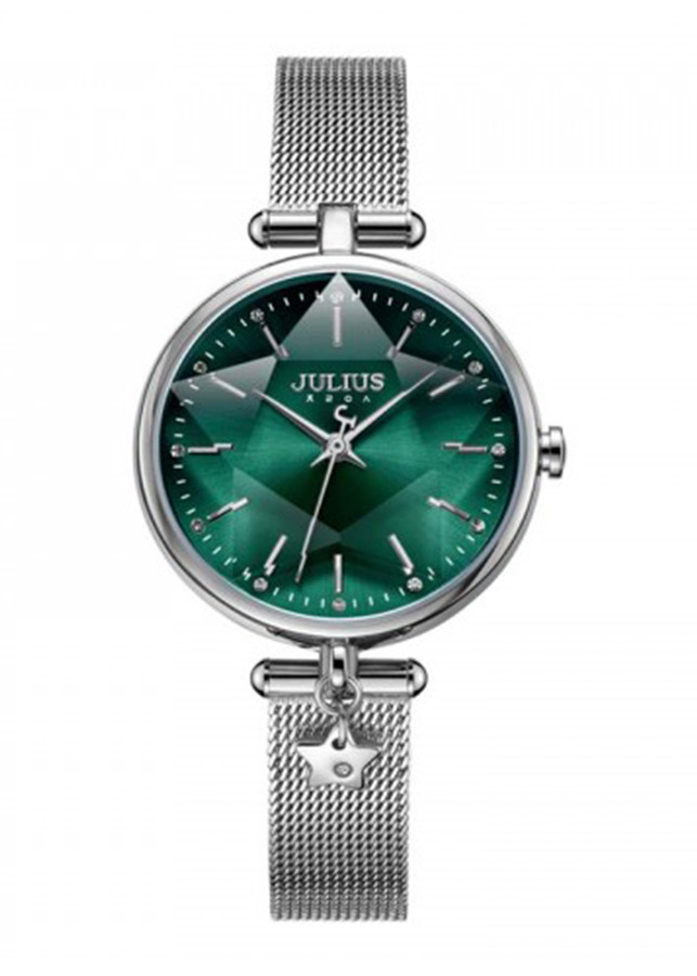 Đồng hồ nữ Julius Hàn Quốc JA-1145 dây thép mặt lăng kính 3d