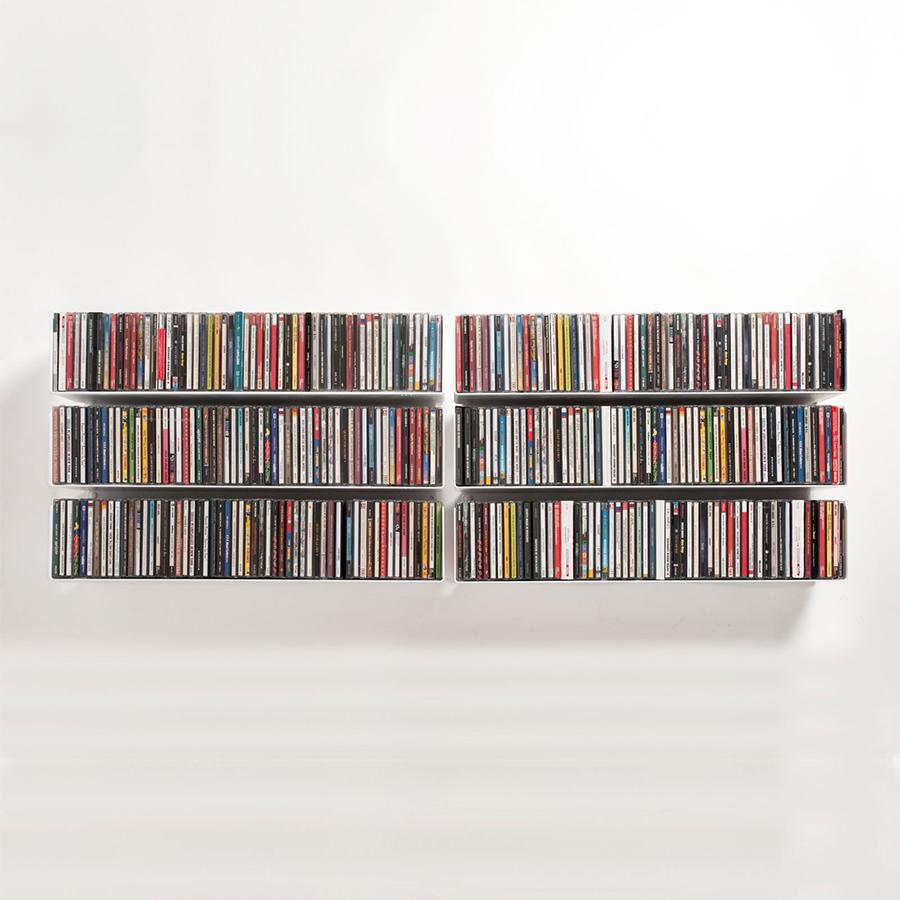 Kệ đĩa CD chữ U60 (Set 6) - Đen