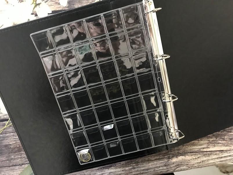 Combo 5 Phơi Chứa Tiền Xu PCCB Có 42 Ngăn Trong  9 Lỗ  Ô 29mm CB5PX429
