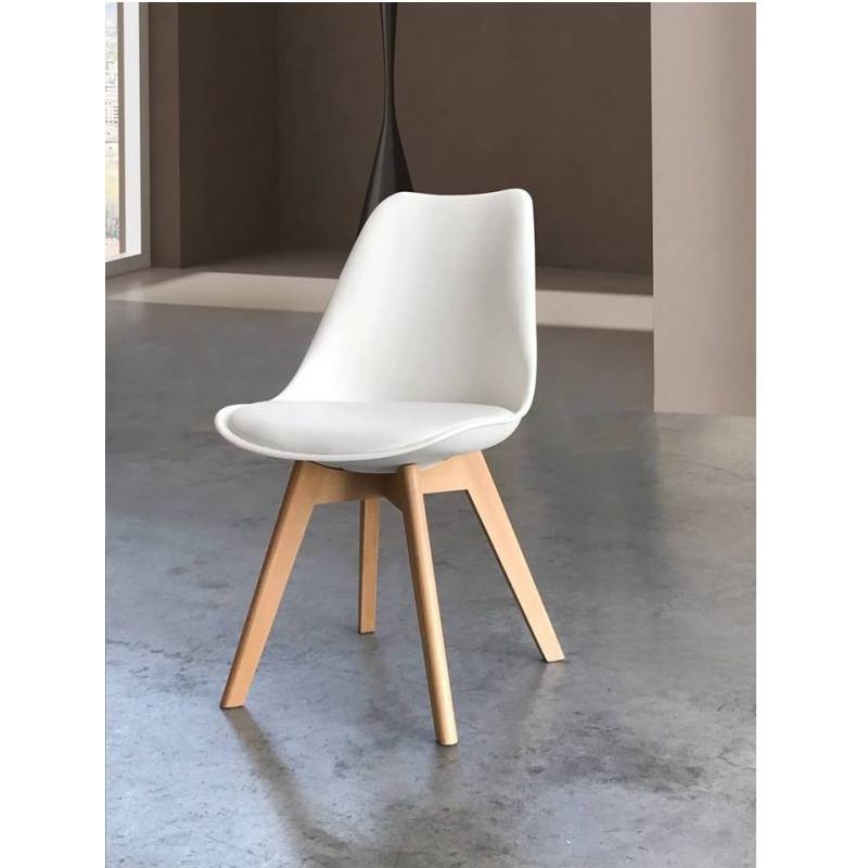 Ghế trắng bọc đệm