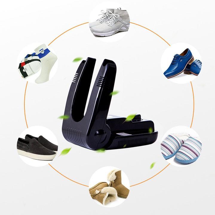 Máy sấy giày khử mùi hôi chân tặng kèm 1 lọ tẩy trắng giày