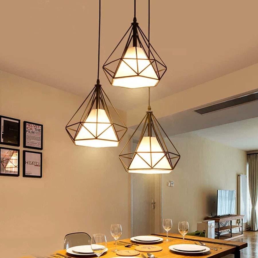 Đèn thả bàn ăn,phòng khách 3 bóng kim cương 3008