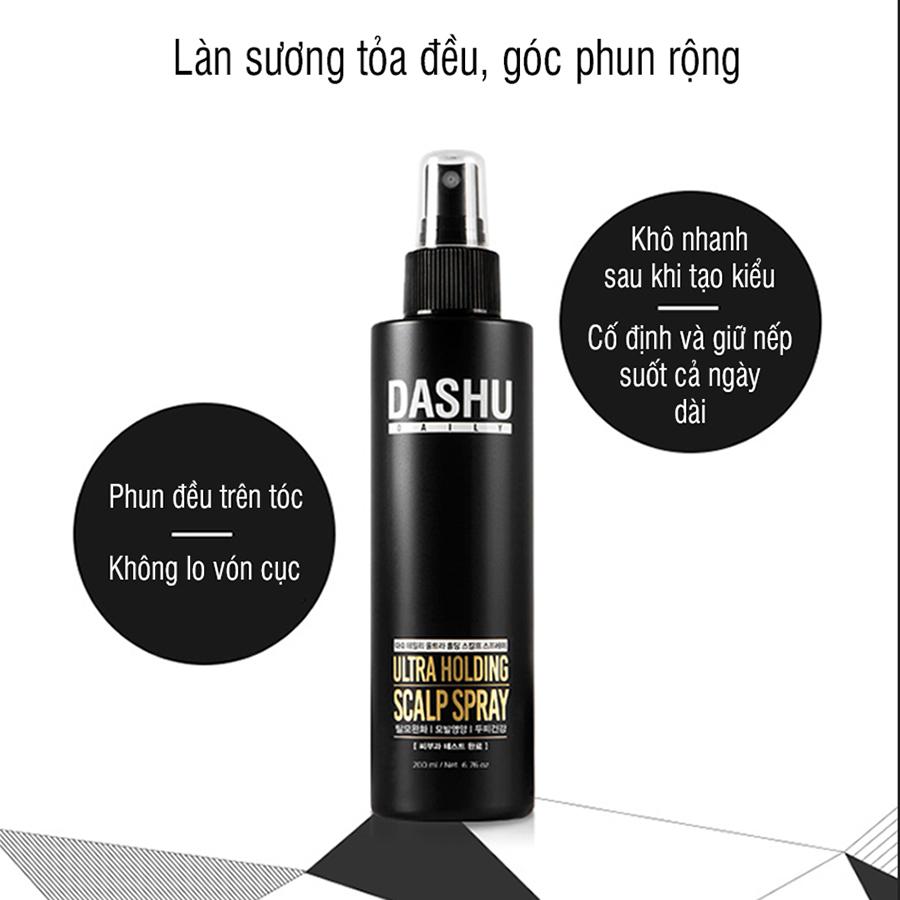 Keo xịt tạo kiểu tóc DASHU mini 50ml giữ nếp lâu, không gây hư tổn tóc, dành cho cả nam và nữ JS-XT022