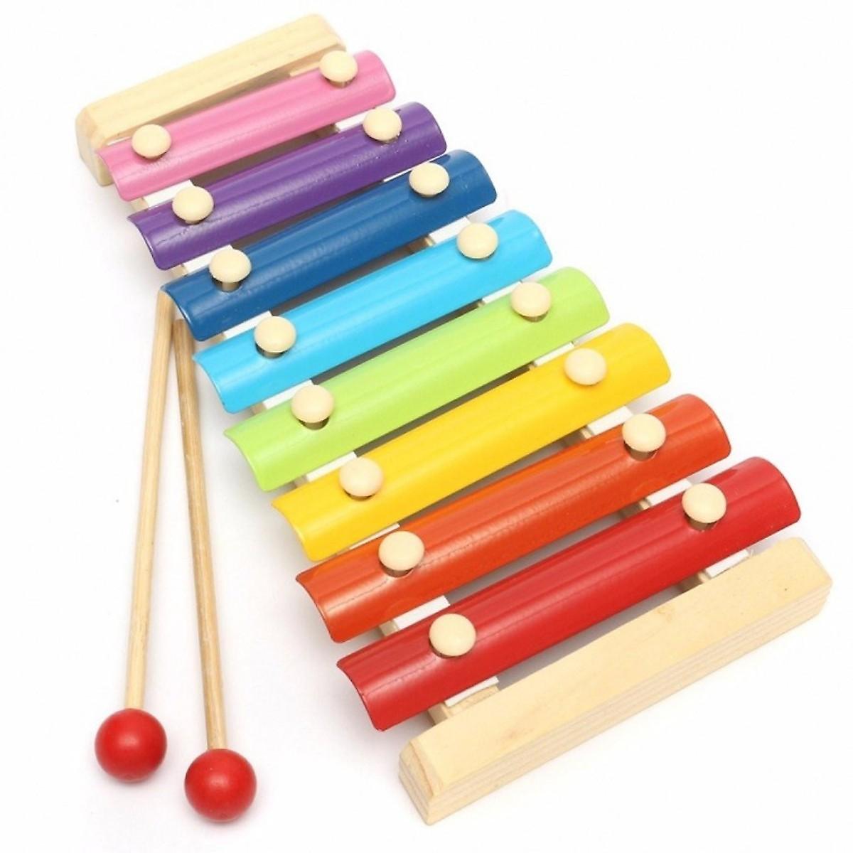 Combo 6 món đồ chơi gỗ phát triển trí tuệ SM (đàn gỗ 8 thanh, bảng chữ cái, hươu cao cổ, cá sấu, thả hình 4 trụ, tháp cầu vồng)