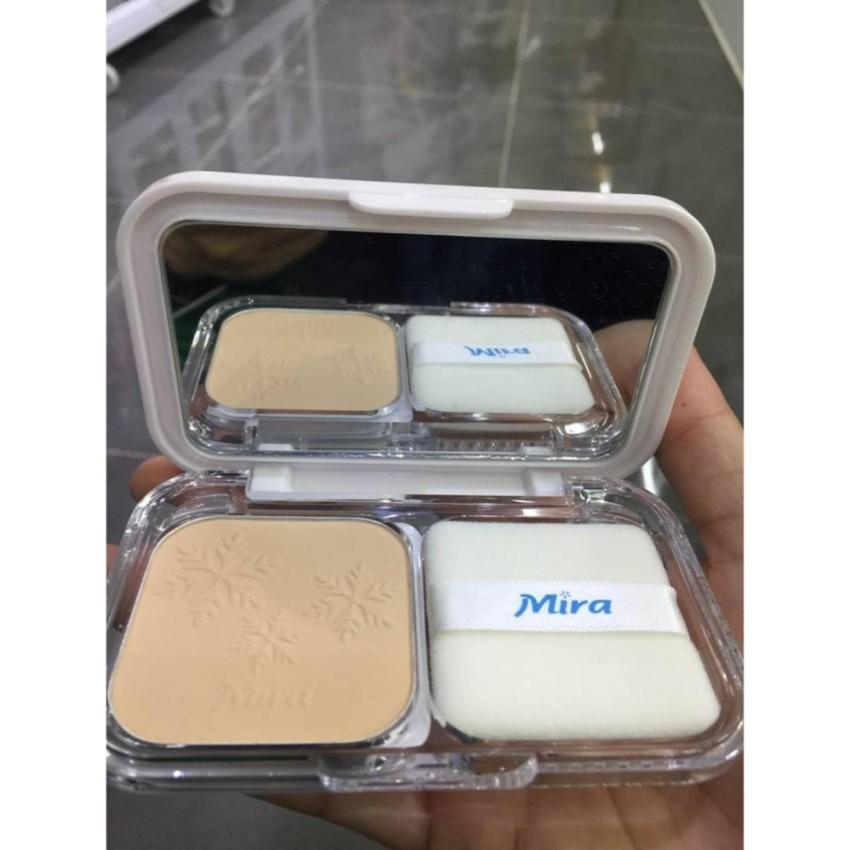Phấn nén trang điểm siêu mịn Mira Two Way Cake Hàn Quốc 12g No.21 Cream Beige tặng kèm móc khoá