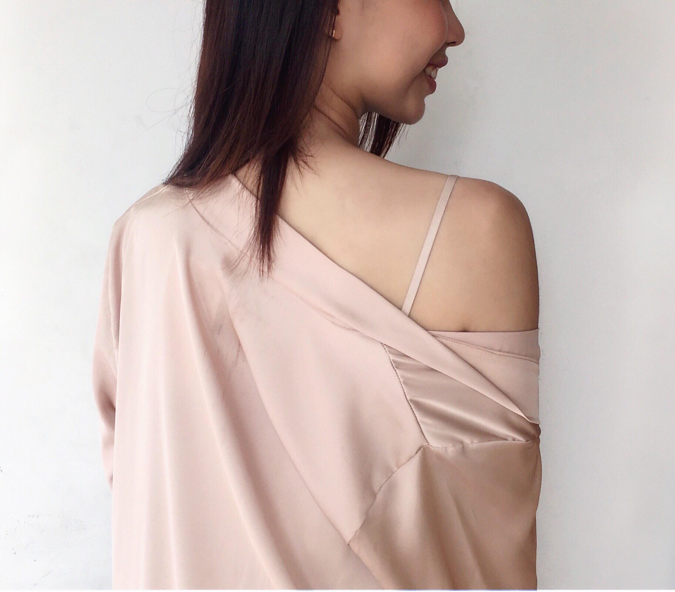 [HATU SLEEPWEAR] Set áo choàng+váy ngủ lụa cao cấp -Màu nude tặng kèm quần chip ren