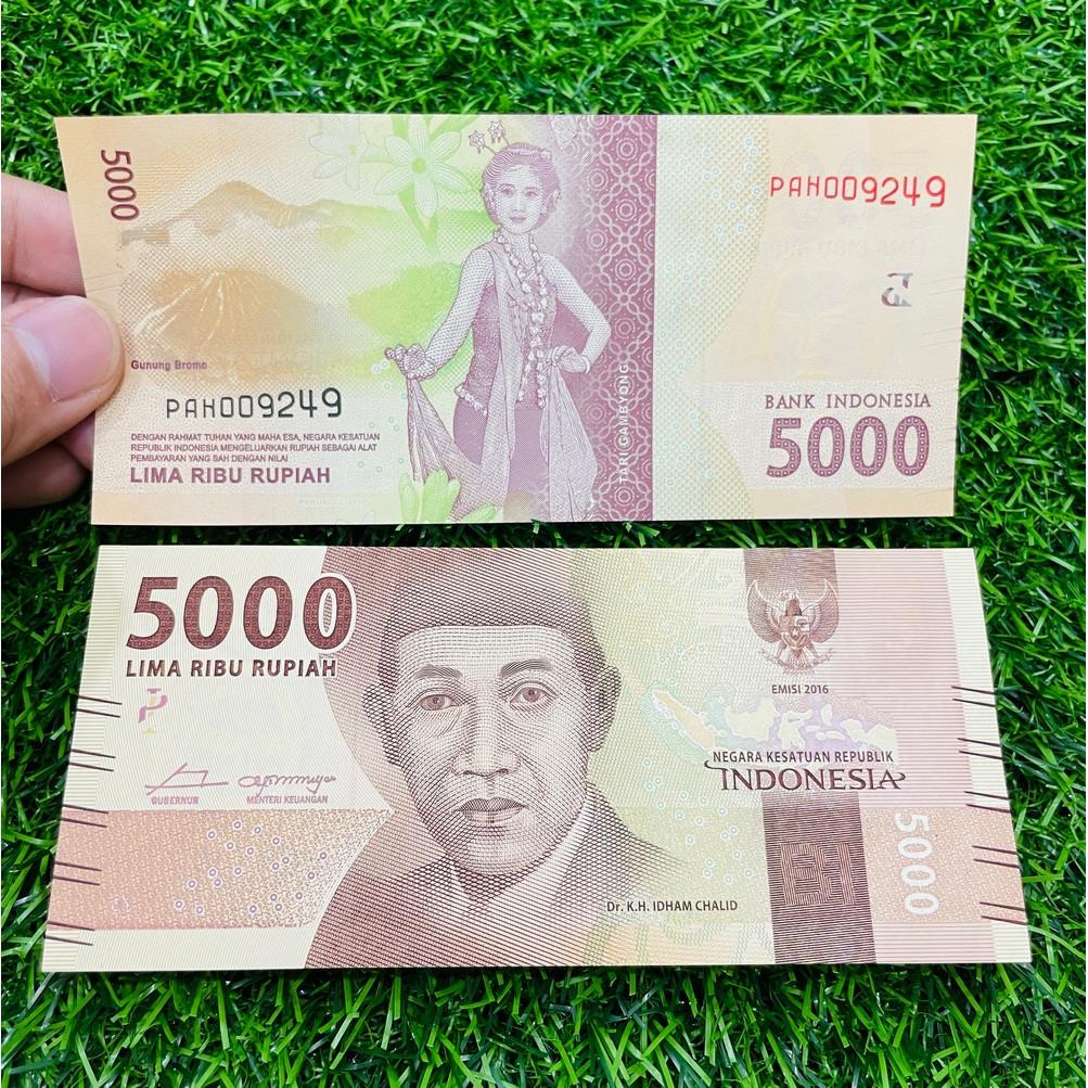 Tiền Indonesia 5000 Rupiah hình vũ công múa, chất lượng mới 100% UNC [TIỀN XƯA SƯU TẦM]
