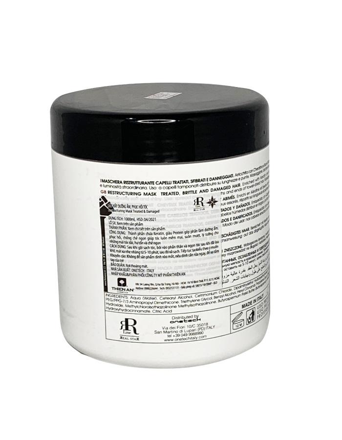 Dầu hấp dưỡng ẩm & phục hồi tóc Restructuring Mask Treated, And Damaged Hair 1000ML
