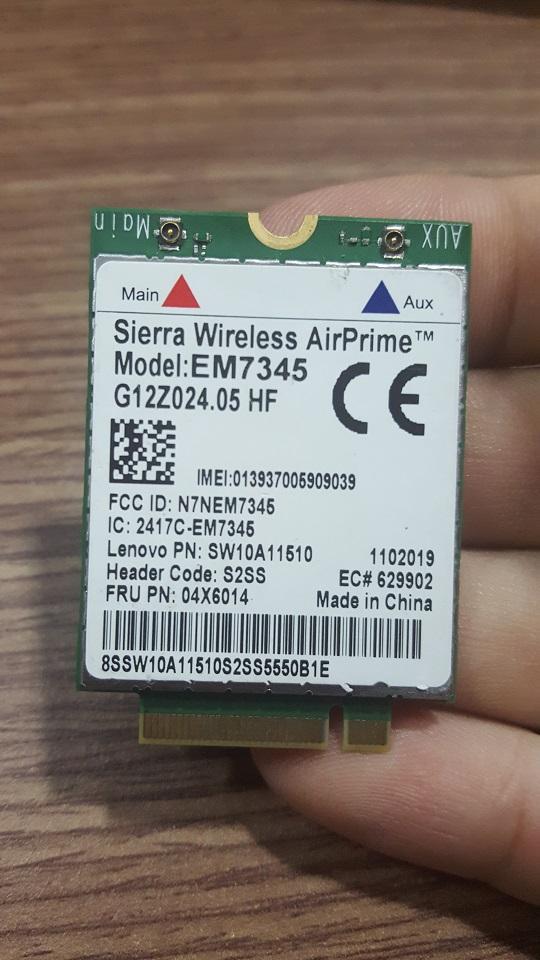 Card WWAN 4G Lenovo ThinkPad EM7345 4G LTE dùng cho laptop X240,X250,T440,T450s