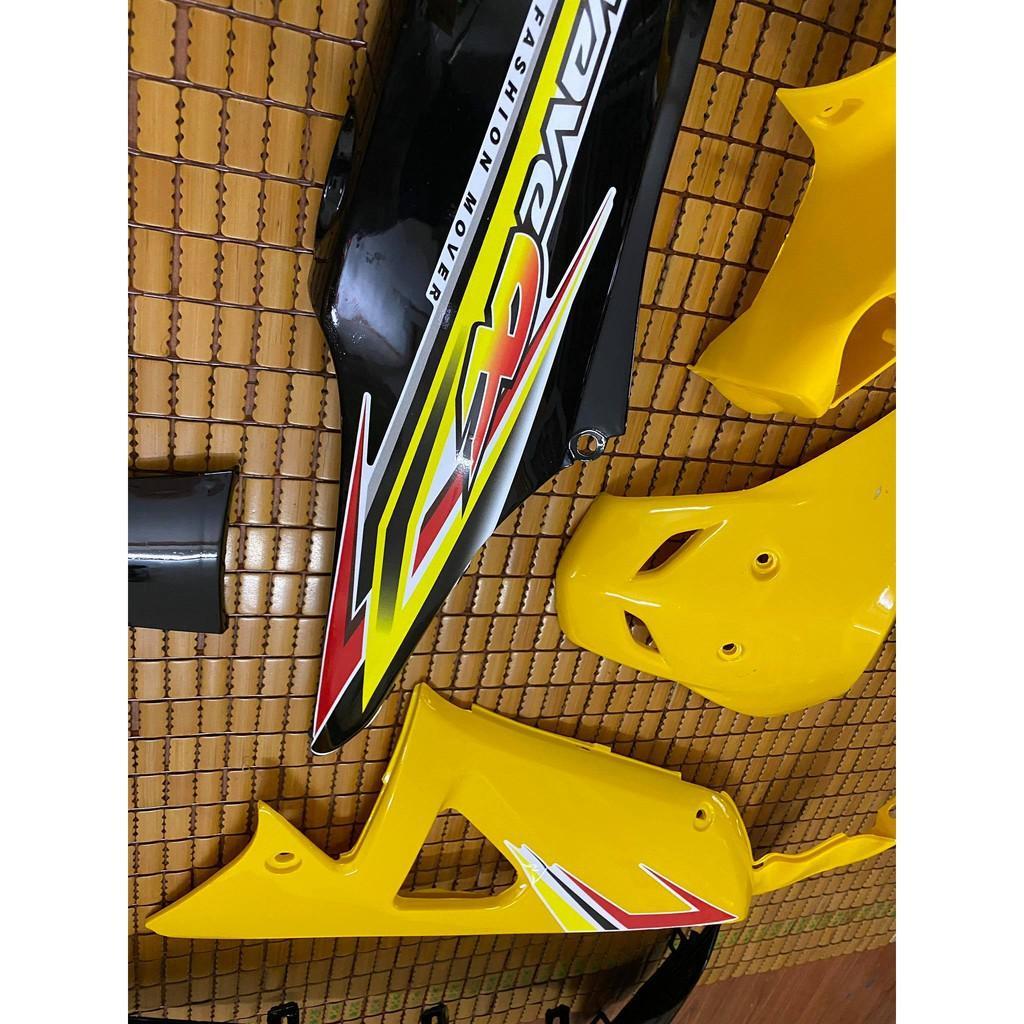 Dàn áo dành cho Honda Wave A/Rs loại 1 màu Vàng Đen
