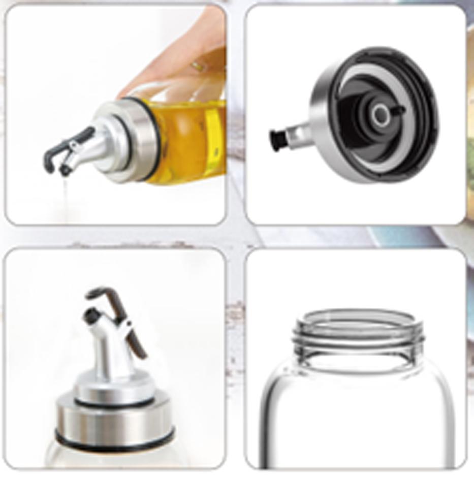 Chai dầu, Lọ, Bình đựng dầu ăn thủy tinh 500ml hình Bình Sữa Oil Can đựng dầu ăn, giấm, nước tương, nước mắm, gia vị, miệng vòi nhỏ giọt - 212
