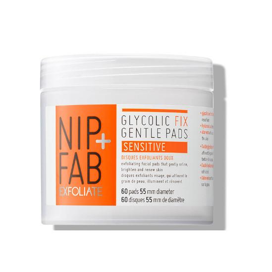 Giấy tẩy da chết AHA Nip + Fab Glycolic Fix Gentle Pads sensitive - 60 Miếng