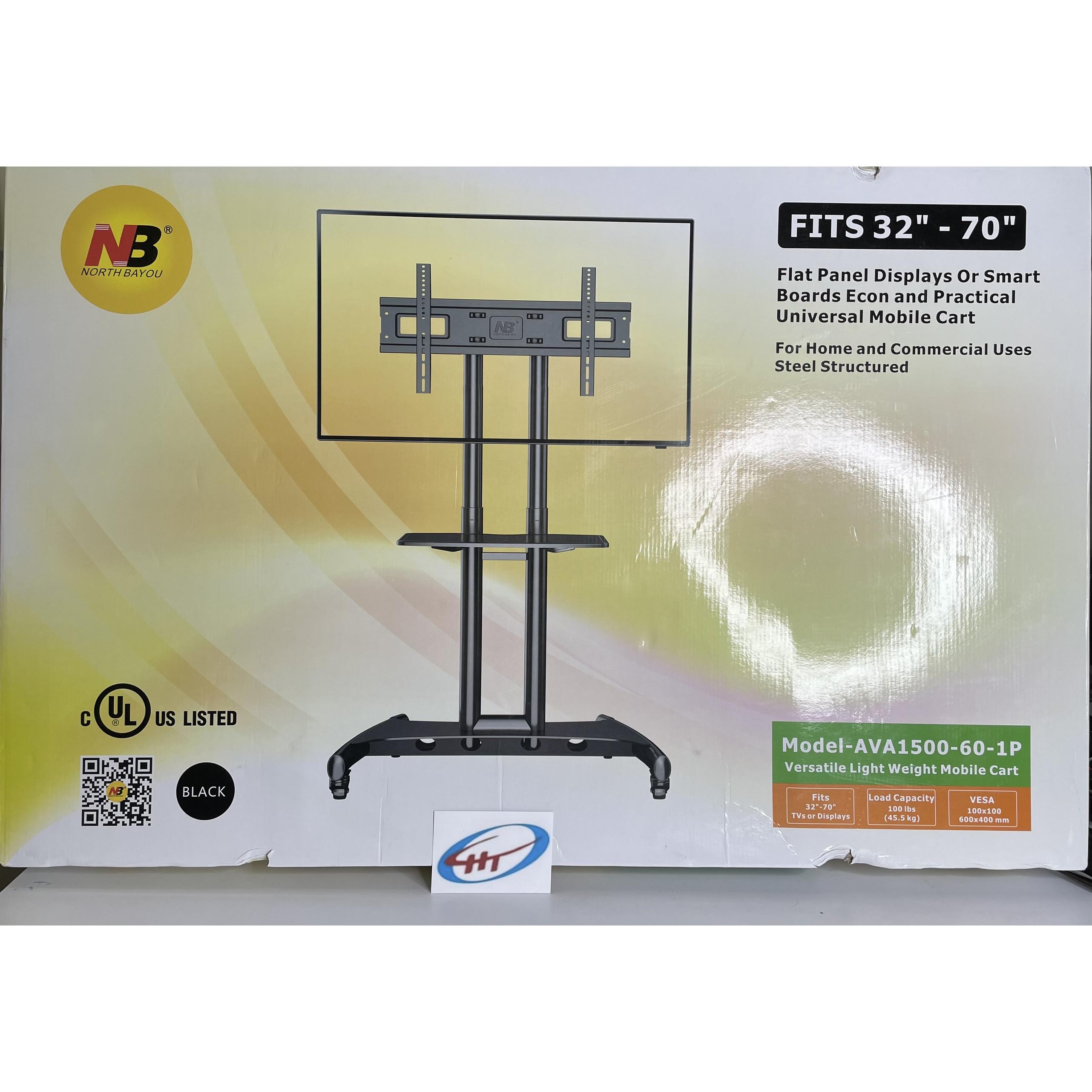 Giá Treo TiVi Di Động AVA1500 Màu Đen Lắp Cho Màn Hình 32 inch - 70 inch Hàng Nhập Khẩu