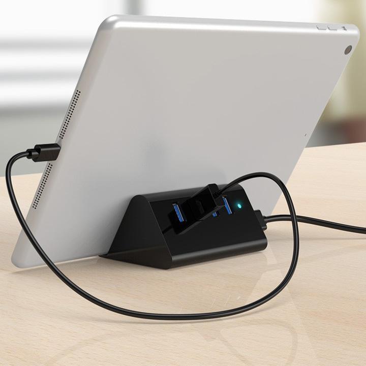 Bộ hub chia 4 cổng USB3.0 kiêm giá đỡ điện thoại SHC-U3
