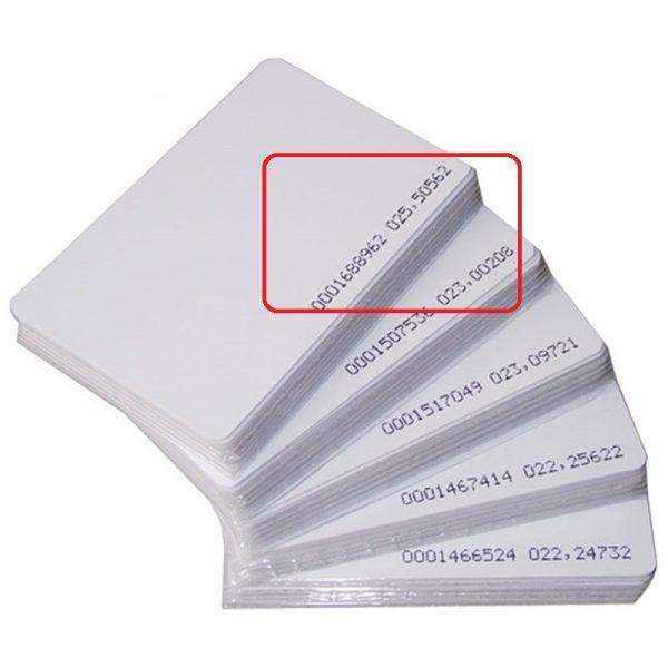 [ Set 5 thẻ] Thẻ từ máy chấm công tần số 125 Khz - thẻ mỏng 0.8mm
