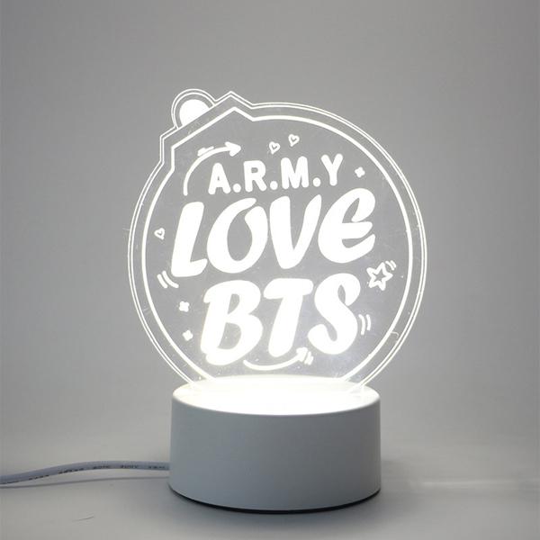 Đèn ngủ ARMY love Bts thiết kế sáng tạo độc đáo
