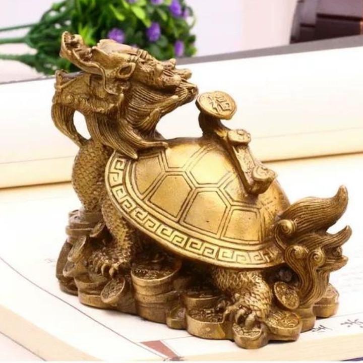 Tượng long quy rùa đầu rồng đồng phong thủy size to