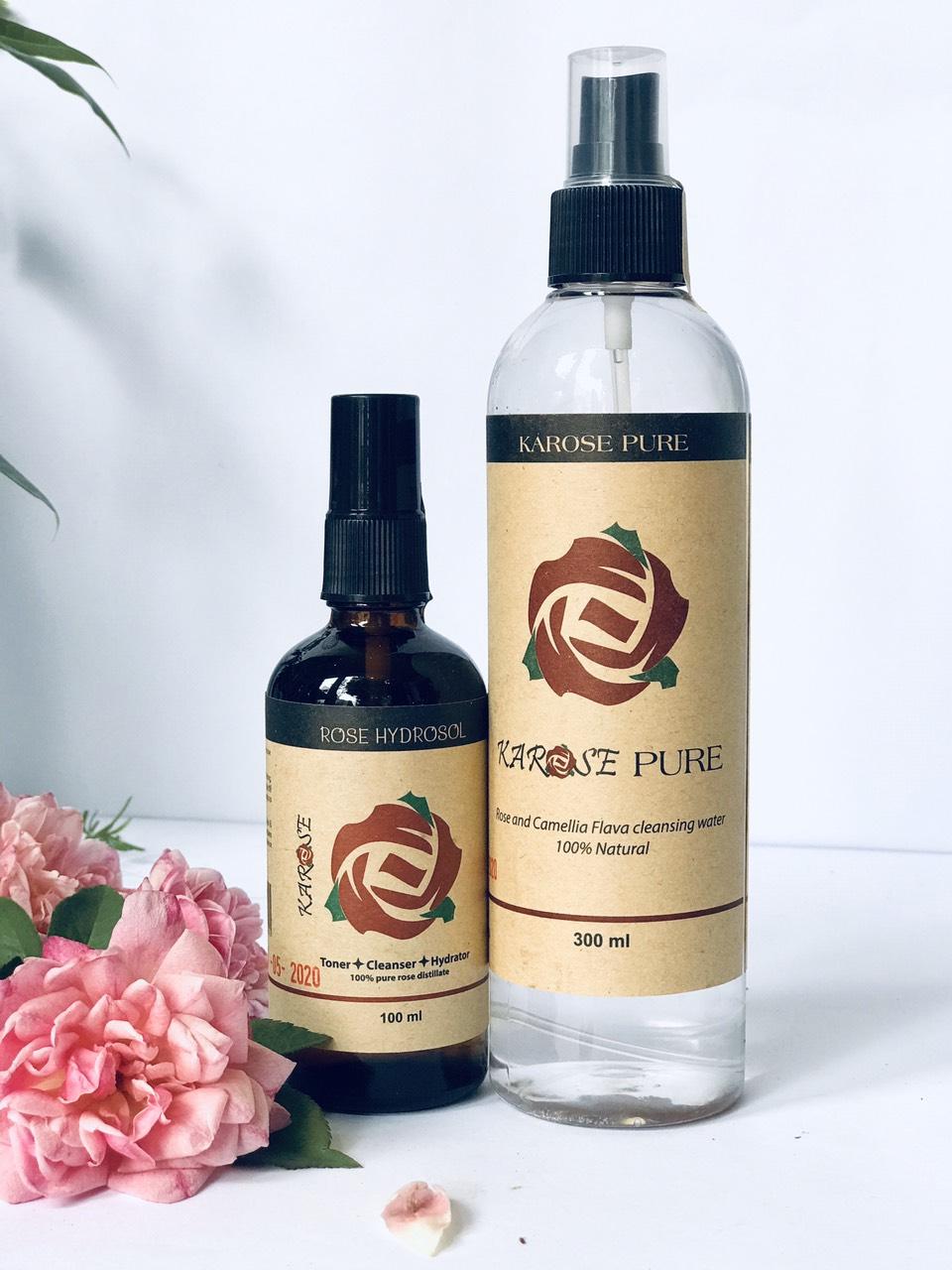 Nước Lau Mặt Hoa Hồng Karose Pure (300 ml)