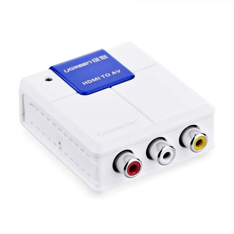 Bộ chuyển HDMI to AV hỗ trợ full HD cao cấp Màu Trắng Ugreen GK40223 Hàng chính hãng
