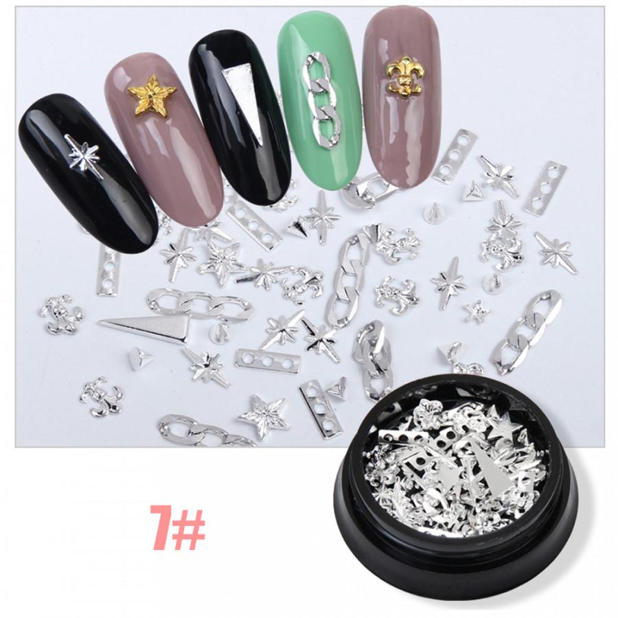 Nail Art Decorations DIY Colorful Nail Accessories Nail rivet Nail Tips Stickers 8