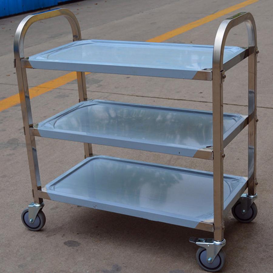 Xe đẩy thức ăn 3 tầng inox AF08163