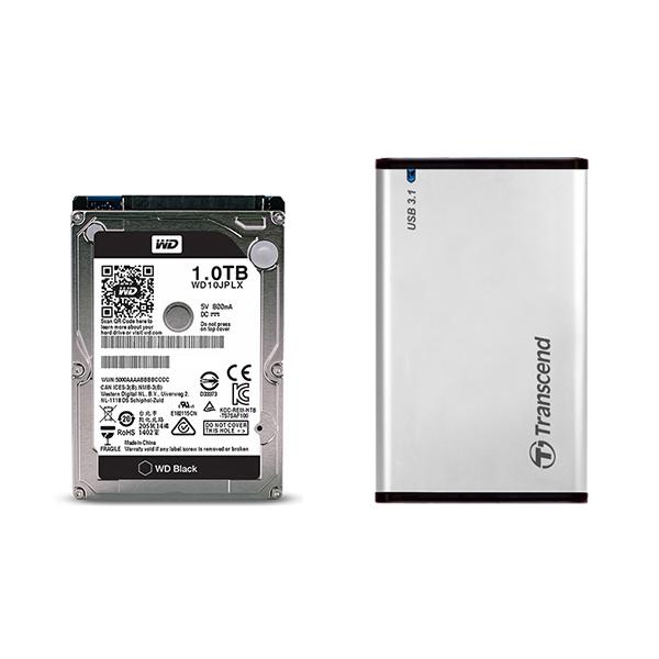 Box ổ cứng Transcend 2.5 inch USB 3.1 StoreJet 25S3 TS0GSJ25S3 - Hàng Chính Hãng