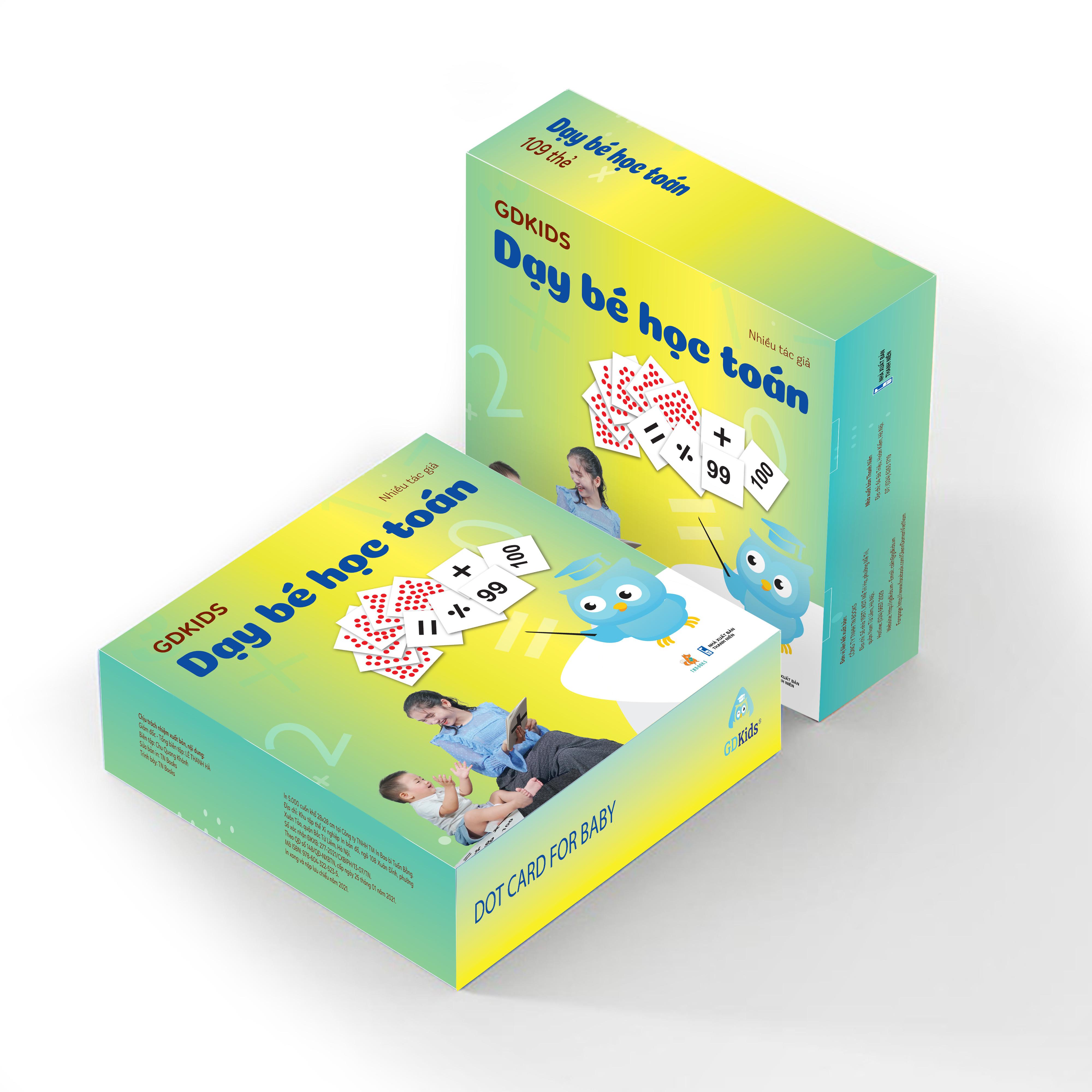 GDKids - Dạy Trẻ Học Toán Glenn Doman (59 Thẻ Flashcards)