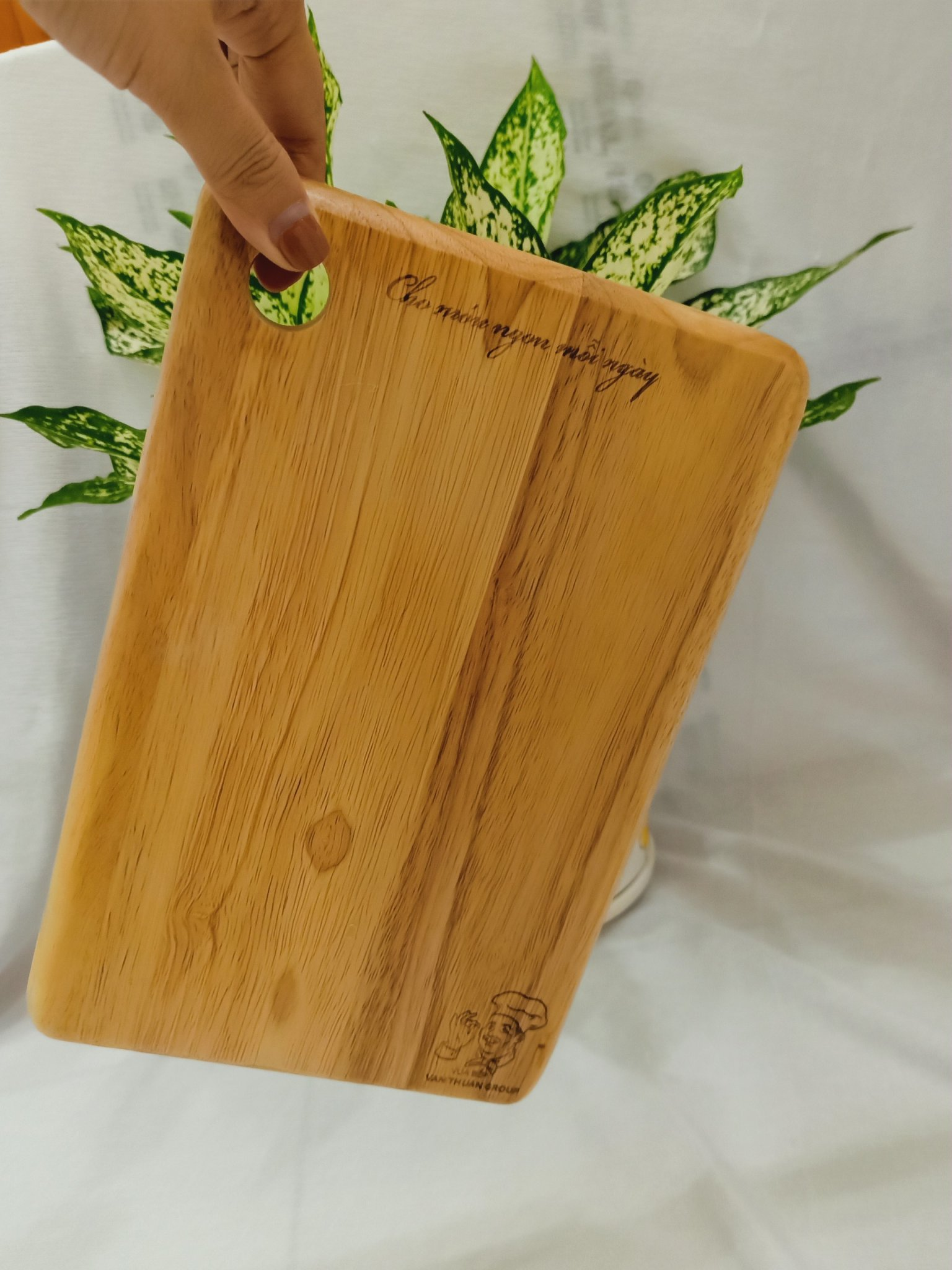 Thớt gỗ sạch hình chữ nhật