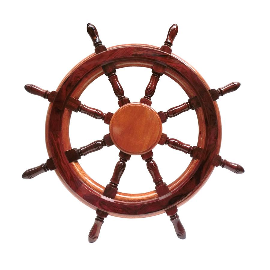 Vô lăng tàu gỗ trang trí Ø40cm (không đồng hồ)