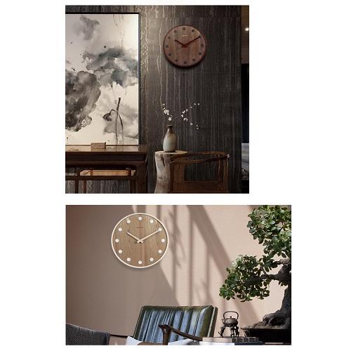 Đồng hồ gỗ treo tường chất liệu gỗ máy kim trôi thiết kế in theo yêu cầu decor trang trí nhà và quán cafe