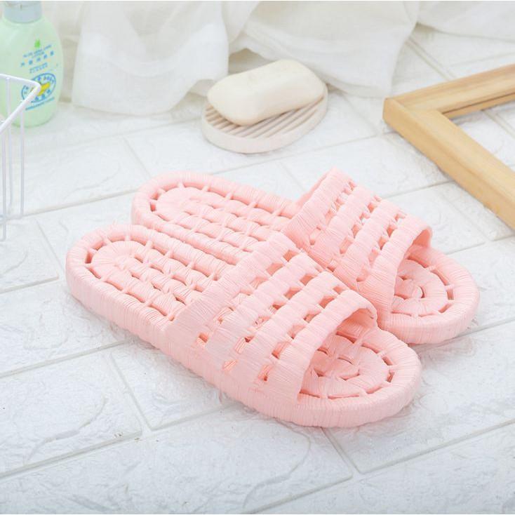 2K07 Dép xốp nhà tắm chống trượt giầy dép thể thao nữ đế cao su đi làm đi chơi trong nhà êm chân