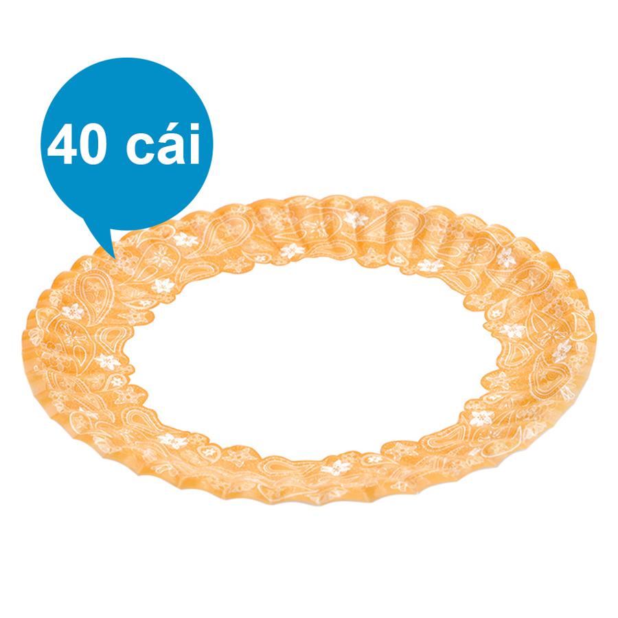 Lốc 40 Cái Dĩa Giấy In Hình Phủ PE FnB DH13 (13cm / Dĩa)