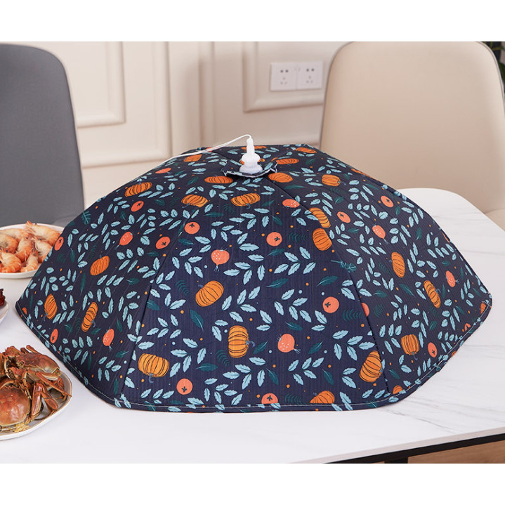 Lồng bàn giữ nhiệt, lồng bàn đậy thức ăn loại lớn  mẫu bí đỏ