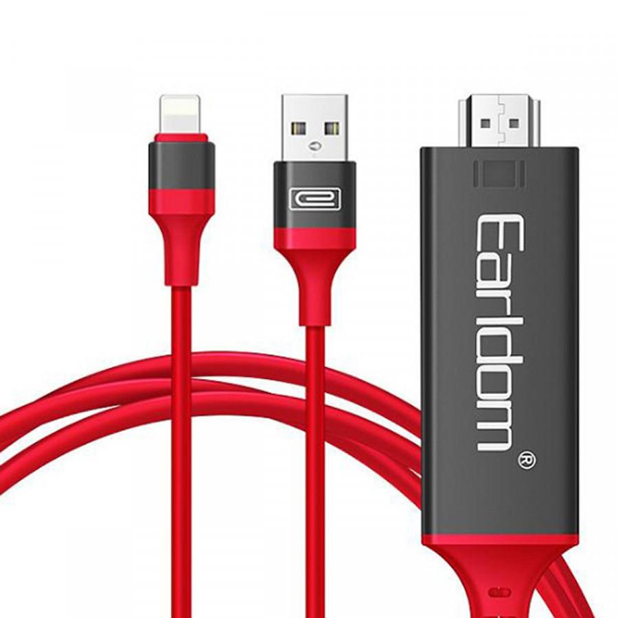 Dây Cáp chuyển Lightning To HDMI Earldom MHL dài 2m - Hàng Nhập Khẩu