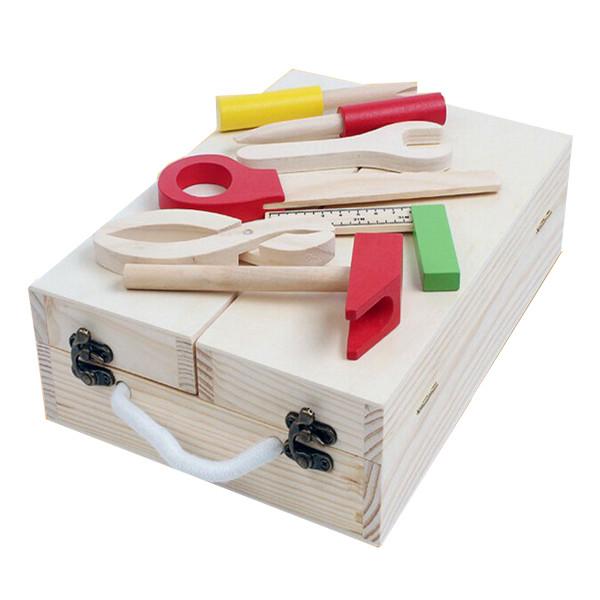 Bộ đồ chơi công cụ gỗ cho bé