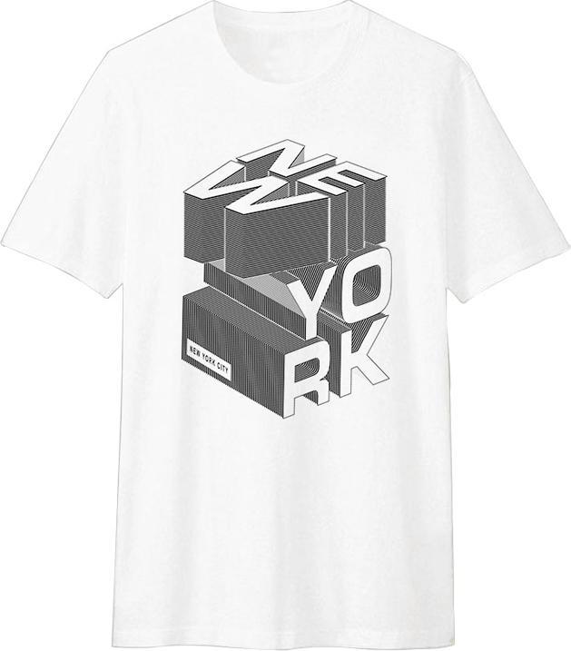 Áo Thun T-shirt Unisex Dotilo New York HM015 - Trắng Size L