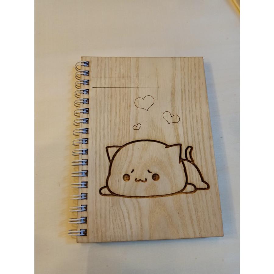 Sổ Tay cute bìa gỗ cao cấp
