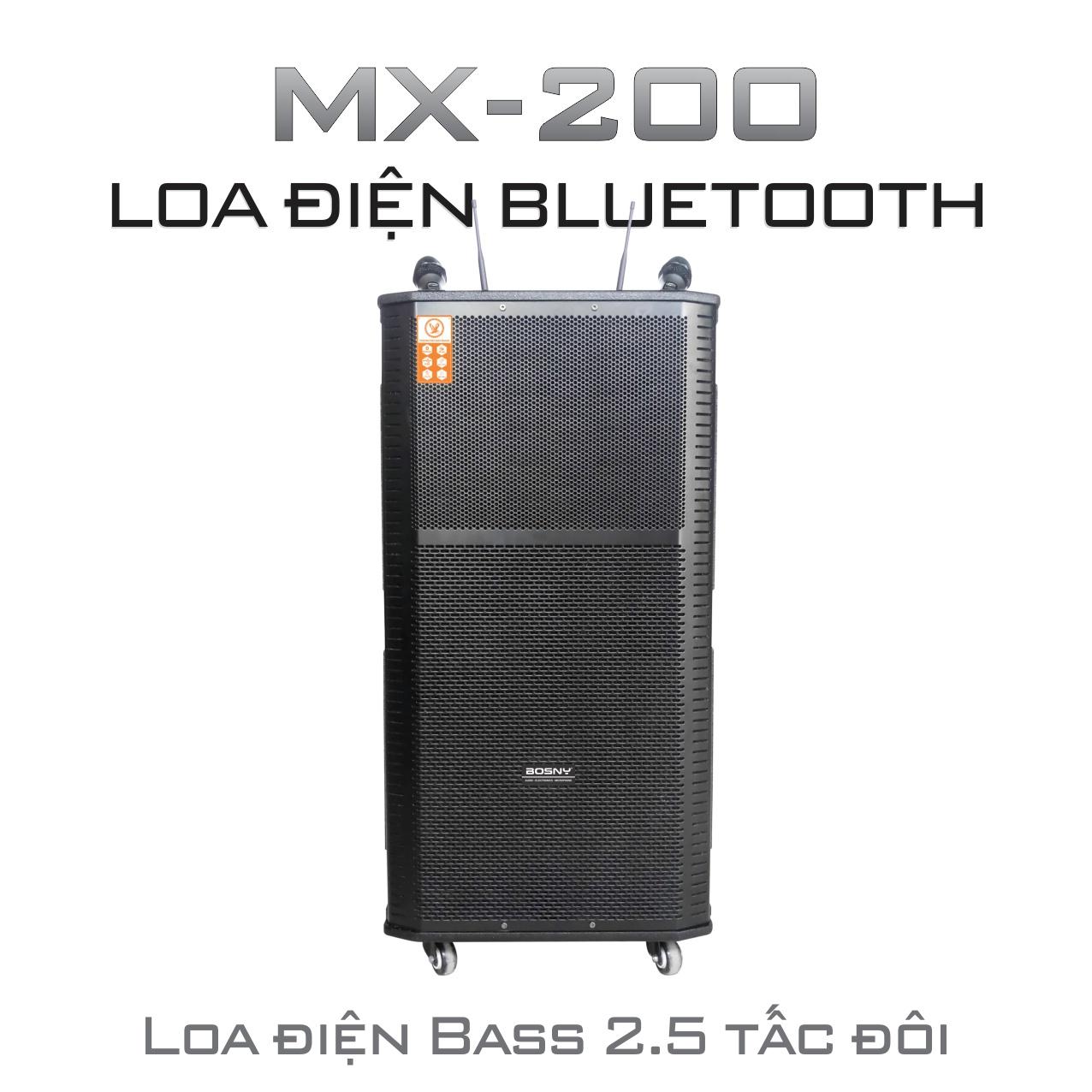 LOA ĐIỆN BLUETOOTH BOSNY MX-200 (Hàng chính hãng)