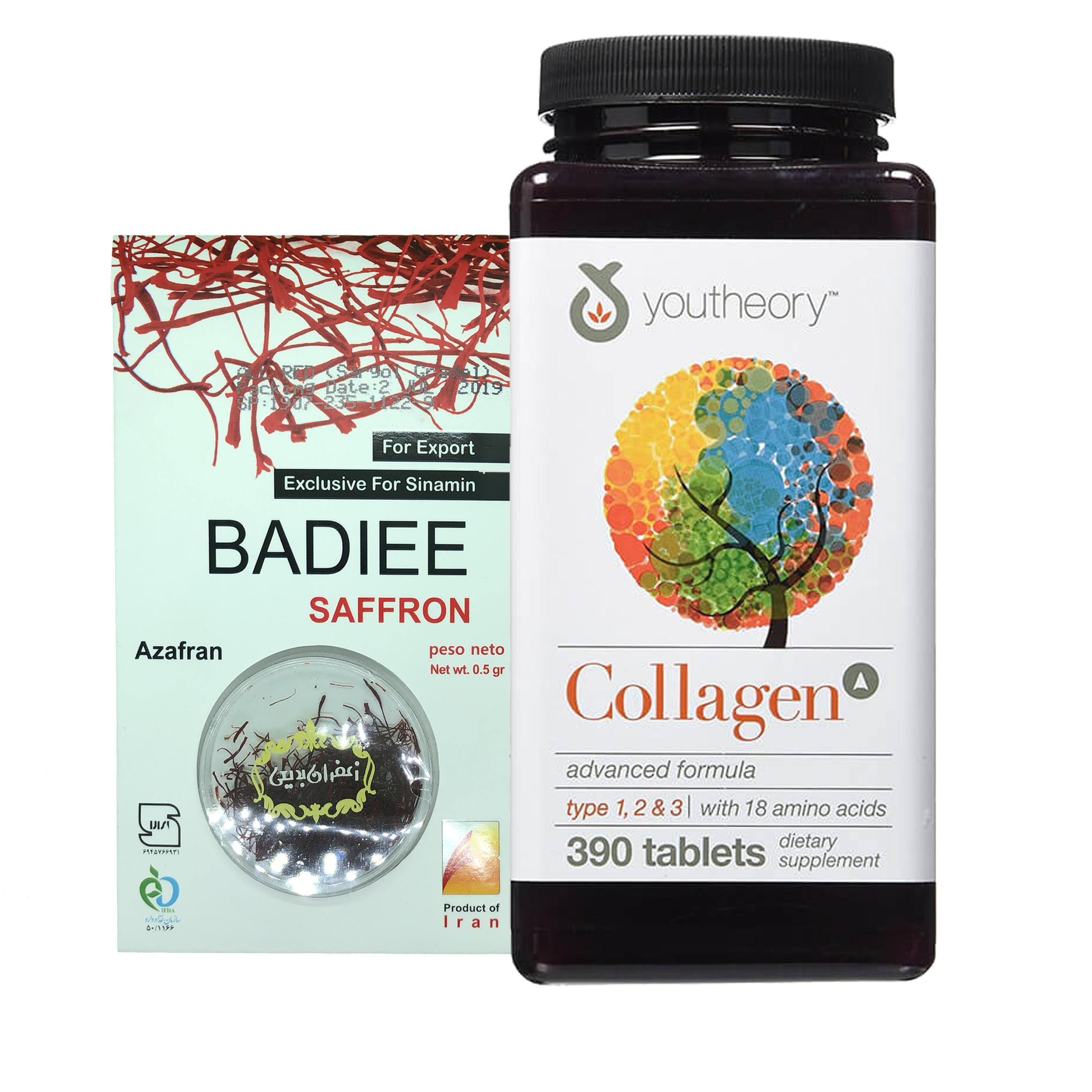 Thực phẩm Bảo Vệ Sức Khỏe Viên uống bổ sung Collagen Youtheory (Collagen Type 1-2-3) 390 Viên Mẫu mới 2019 Tặng kèm hộp Saffron Nhụy Hoa Nghệ tây