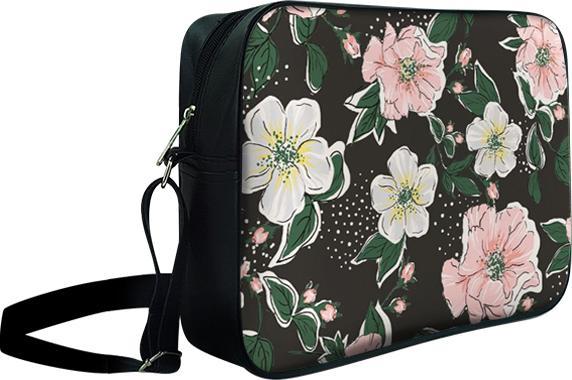 Túi Đeo Chéo Hộp Unisex Hoa Trắng Hồng - TCHO045 34 x 9 x 25 cm