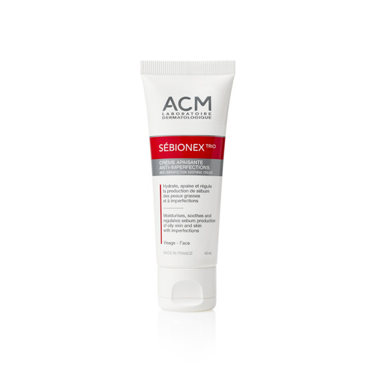 Kem dưỡng giảm mụn mờ vết thâm Sebionex Trio Anti-Imperfection Soothing Cream 40ml