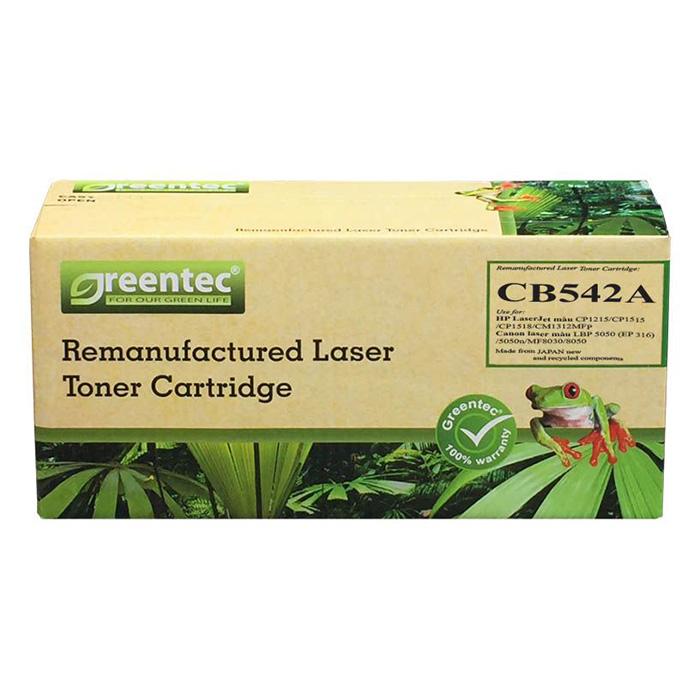 Mực In Laser Màu Greentec  CB542A ( 316Y) - Hàng Chính Hãng