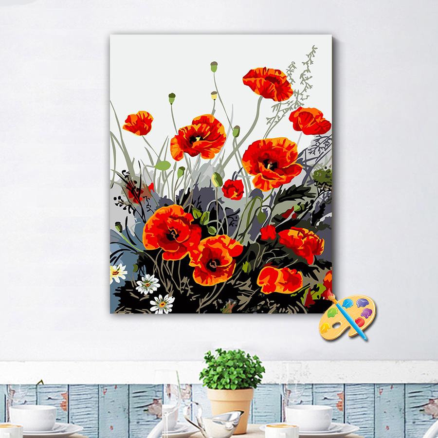 Tranh tô màu theo số hoa diên vĩ 240