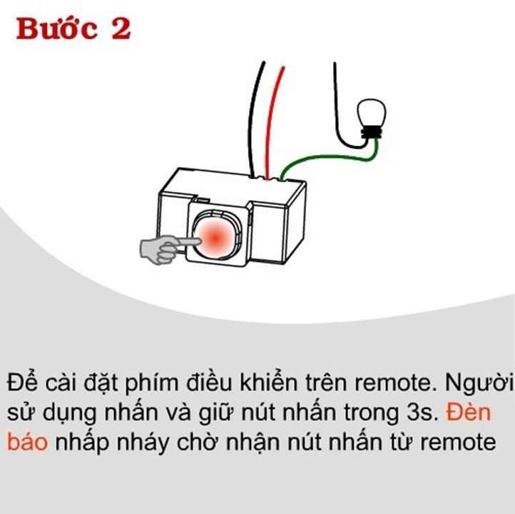 Công tắc điều khiển từ xa kết hợp hồng ngoại thông minh RI01 ( Tặng 02 nút kẹp giữ dây điện cố định )