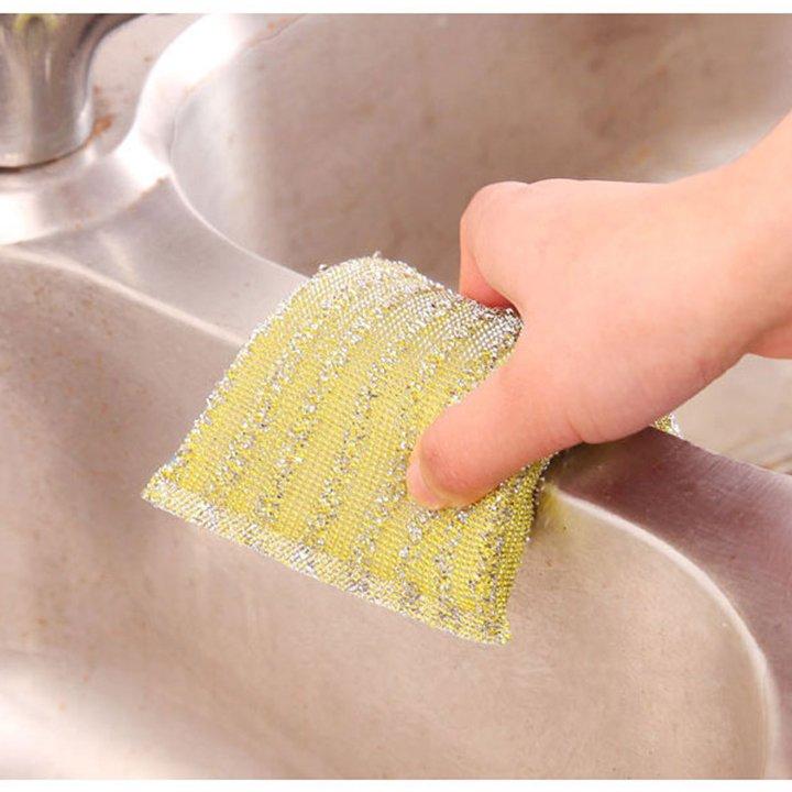 Combo 20 Miếng giẻ rửa bát cọ nồi có hạt mài - Giao màu ngẫu nhiên