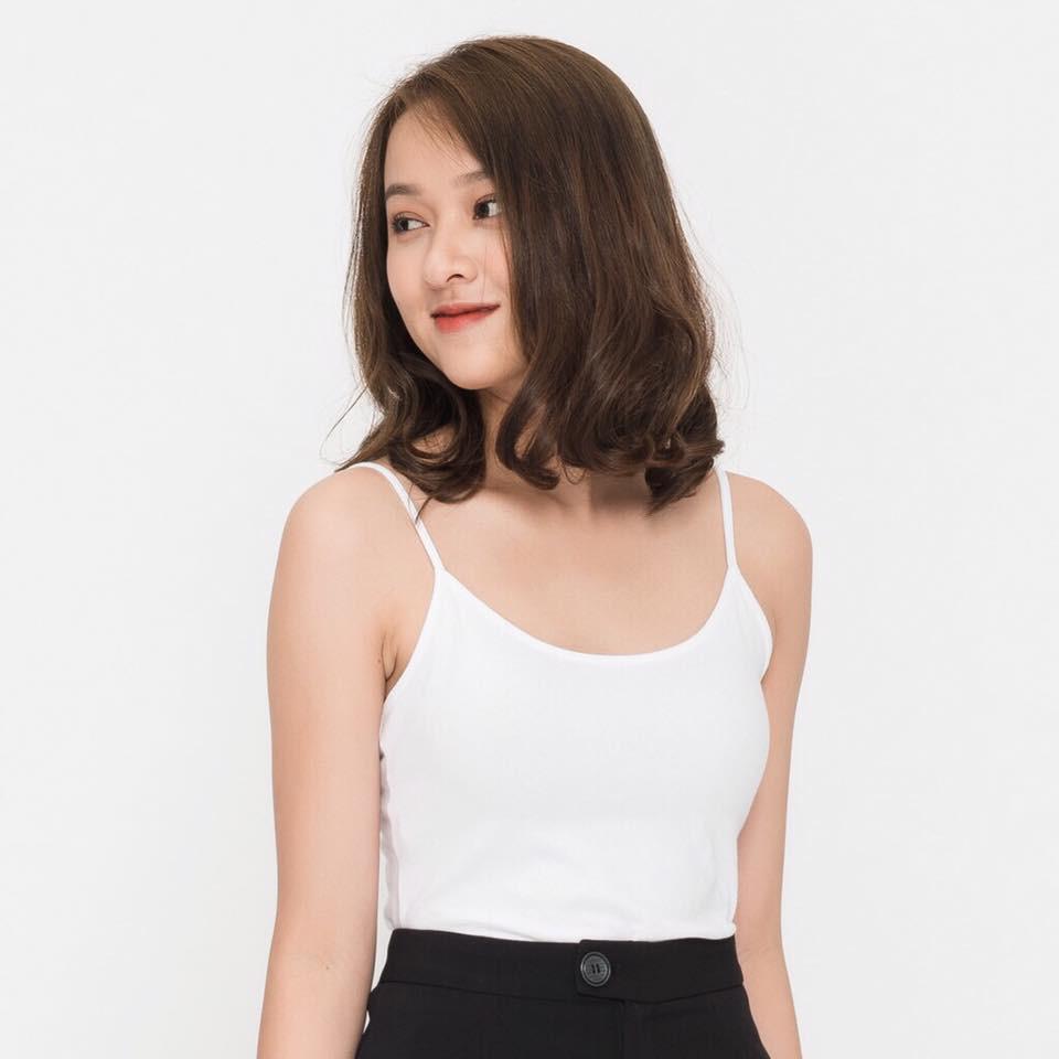 Áo 2 dây cotton trơn chất đẹp